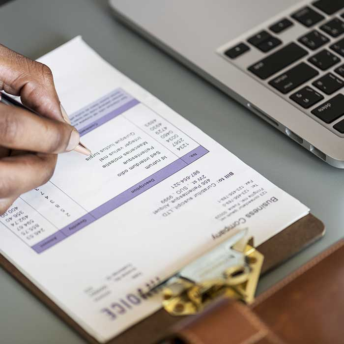 Customised Invoice printing