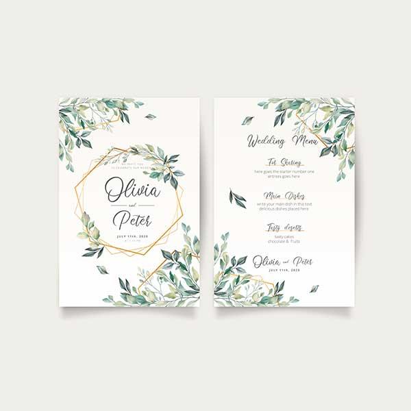 Wedding Menu Printing